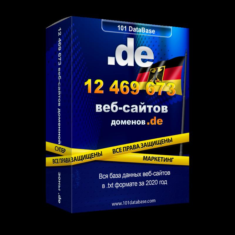 Все сайты Германии - доменной зоны .de