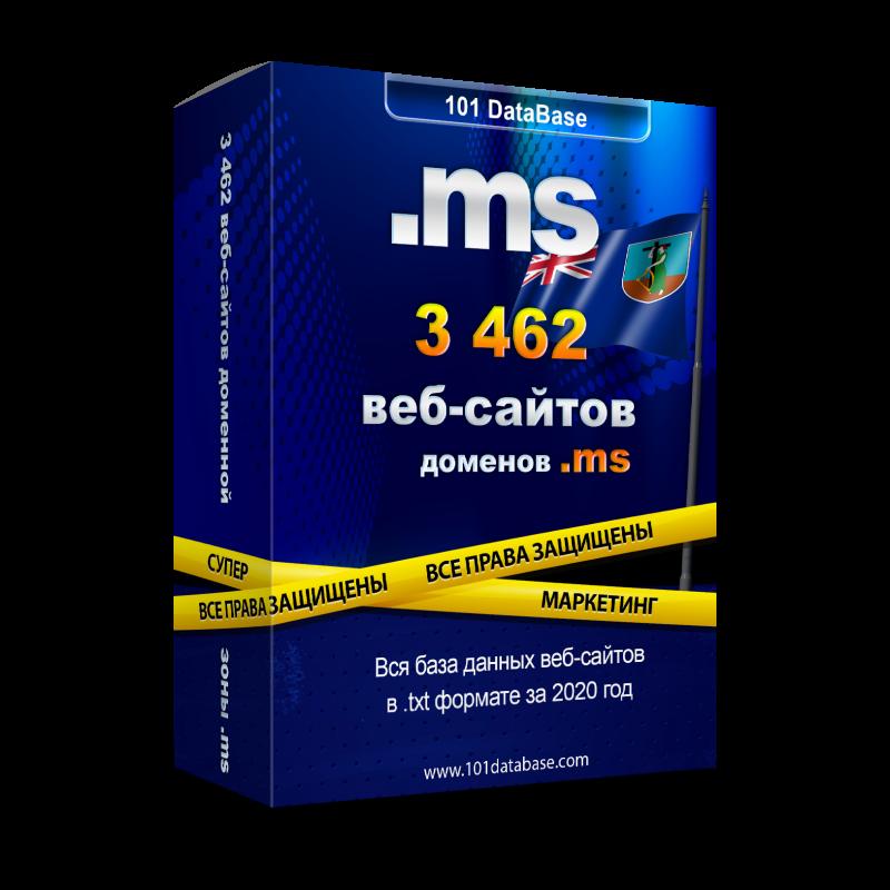 Все сайты Монтсеррата - доменной зоны .ms